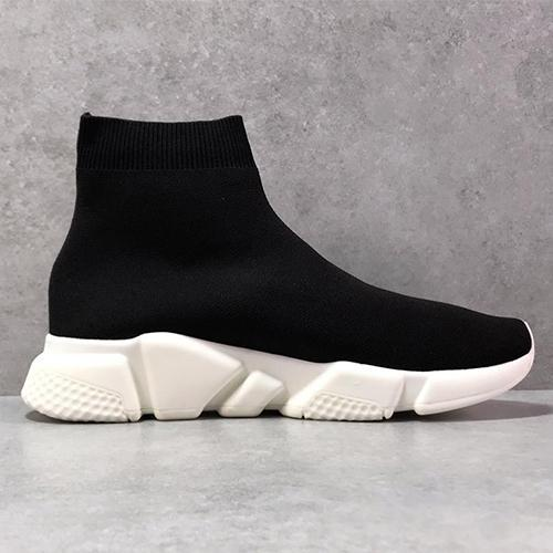 2019 paris Sock Shoes Casual Shoe Speed Trainer High Quality Sneakers Speed Trainer Sock Race Runners black Shoes men and women White Shoe A