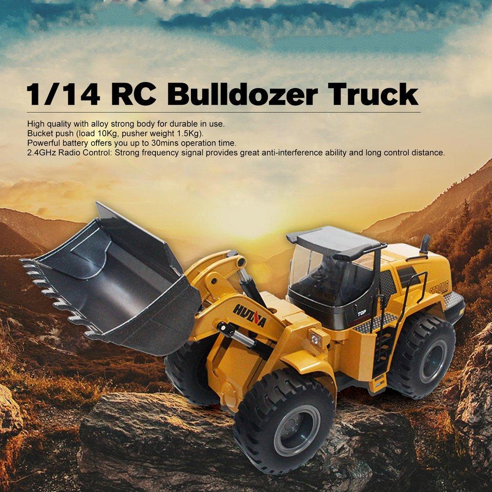Compre Huina Toys 1583 1 14 10ch Aleacion Rc Camion Niveladora Con