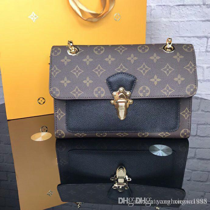 b9e2dfde422 Wholesale Top Quality Brand Female VICTOIRE Chain Bag Monogrram ...