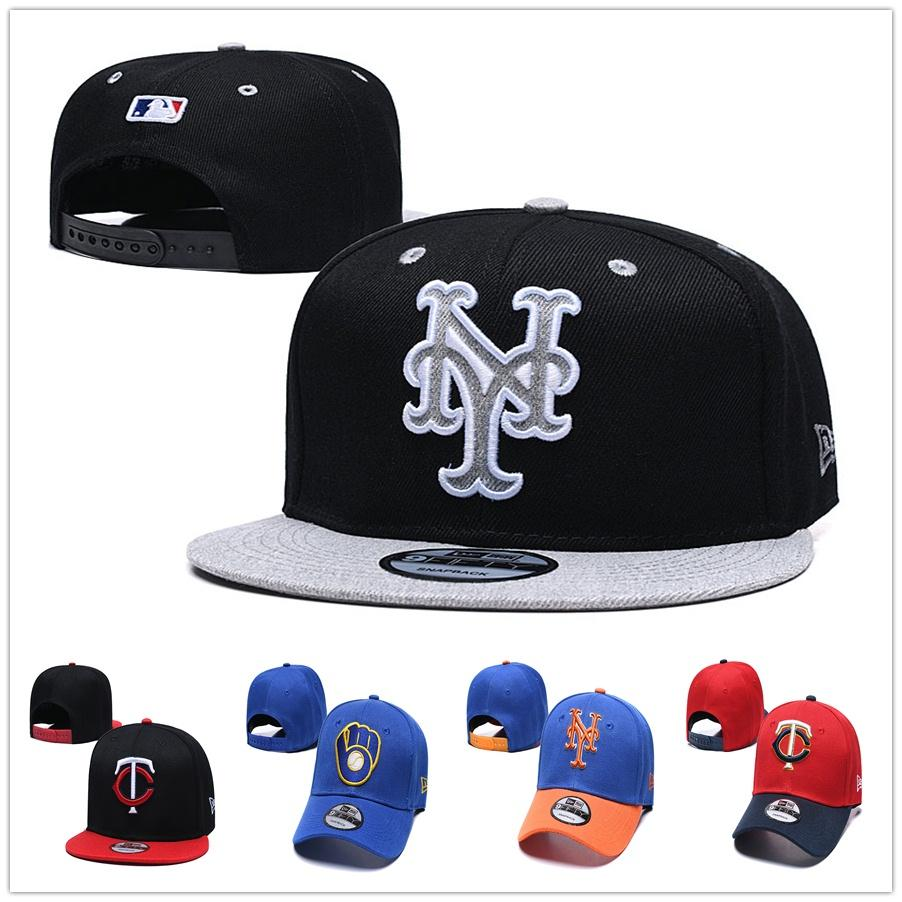 new concept new lifestyle cheap for sale New York NY Mets Baseball Hat Minnesota MI Twins Baseball Cap New Chapeau  Era Milwaukee Mil Brewers Baseball Snapback Casquette