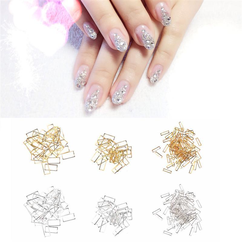 Nail Art Decoration Grid Pattern Silver Metal Manicure Accessories ...