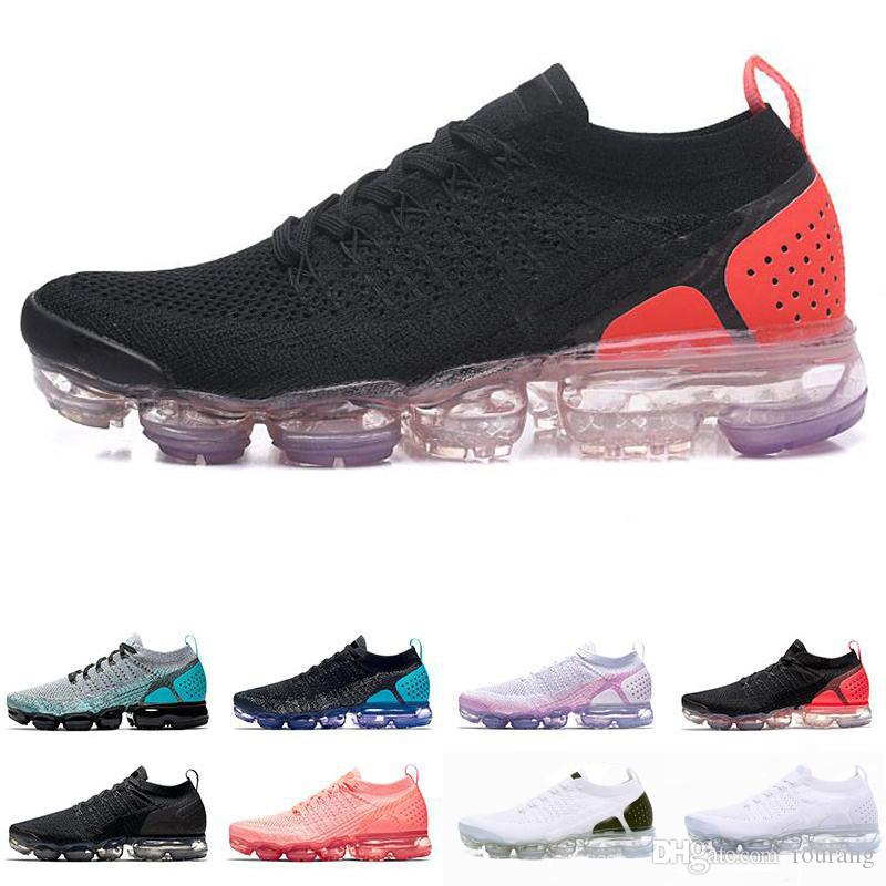half off 88fac 59c3c Acheter Nike Air Max Airmax Vapormax Flyknit 2.0 2018 Nouvelles Couleurs  2.0 Fly Knit Fluorescence Vert Sport Chaussures De Course Pour Haute  Qualité 2 ...