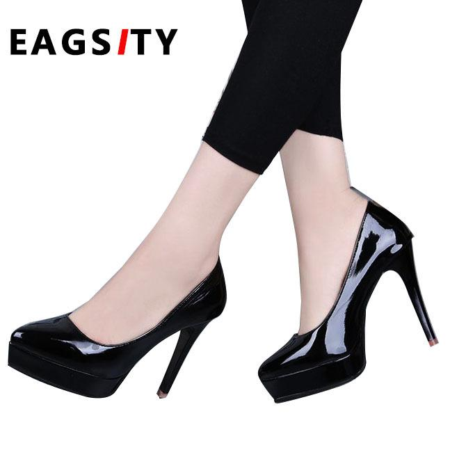 2e7808cc0f4 Designer Dress Shoes platform stiletto heels women high heel pumps ladies  dress party wedding dancing office career pink black