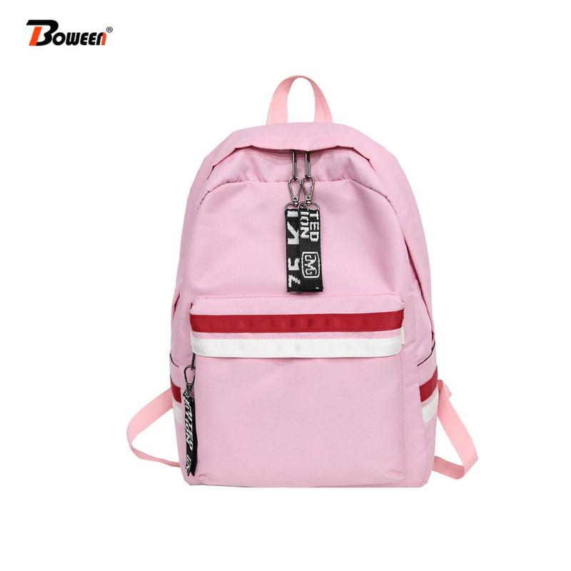 Teens Nylon Schoolbag For Girls Teenagers Backpack Women Bag 2019 Casual  College Wind School Bags Large Capacity Bookbag Girls Bags Wheeled Backpack  From ... 923b53c6803fa
