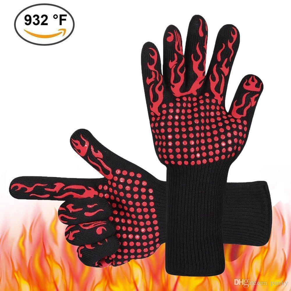 Compre 500 Grados Centígrados Guantes Resistentes Al Calor Ideal Para El  Horno BBQ Para Hornear 790a4473bf4