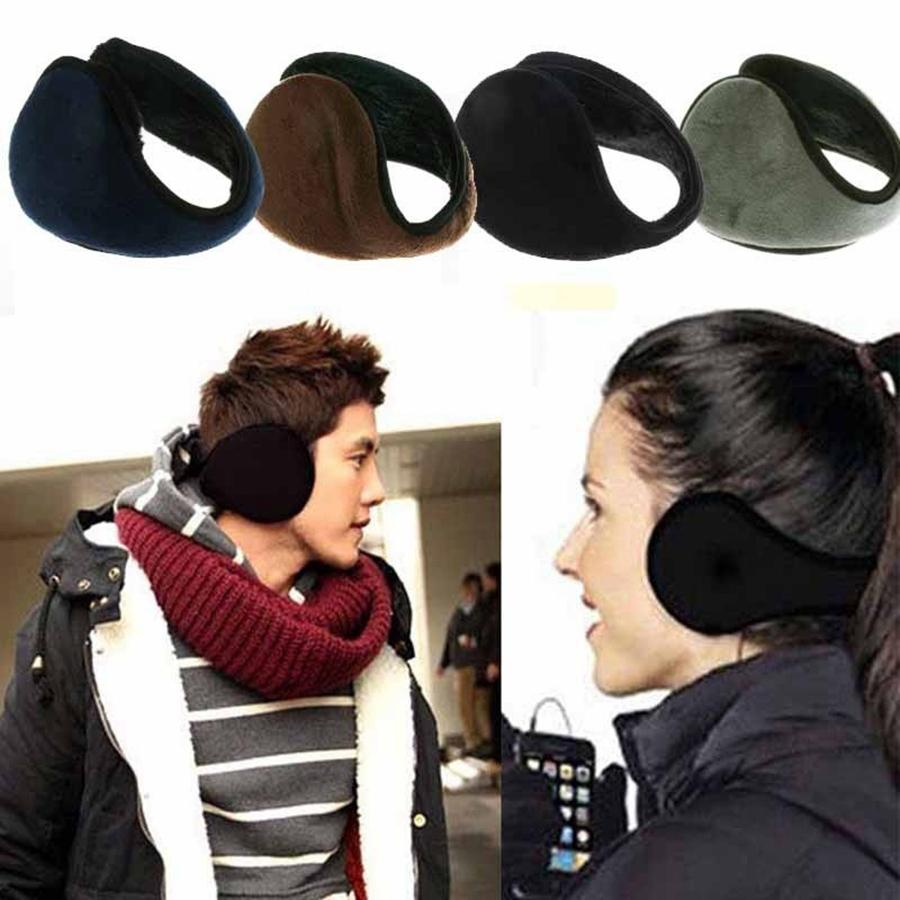 Winter Ear Warmers Earmuffs Ear Muffs Behind The Ear Style Women Men Unisex Warm Winter Plush Earmuffs 4styles RRA2165