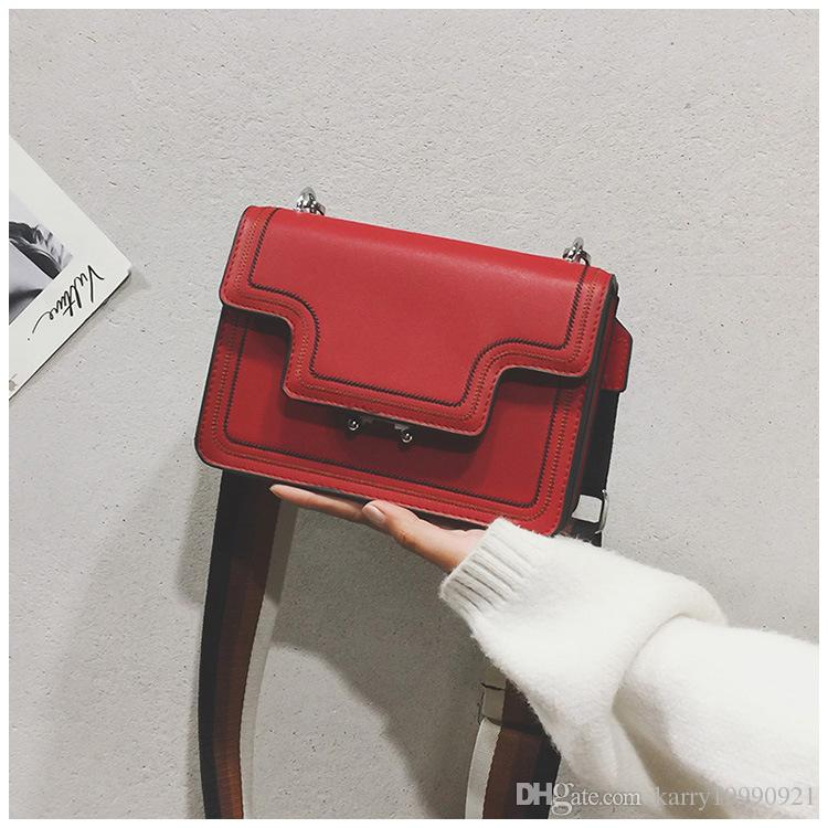 81729a3b1a Hot Sale Single Shoulder Bag 2018 New Chic Broaadband Women Simple ...