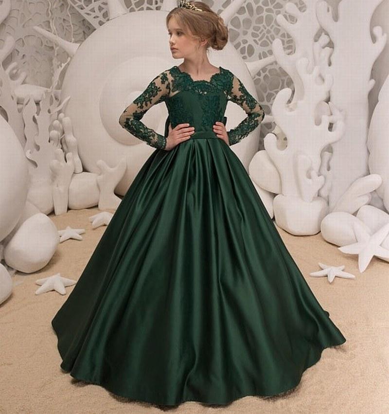 Vestido para boda verde esmeralda