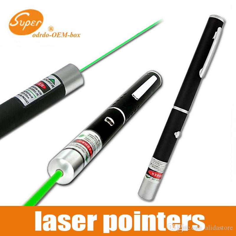 5MW Green Red Purple Laser Pen Powerful Laser Pointer Presenter Remote Lazer Hunting Burning Laser Without Battery 1000m