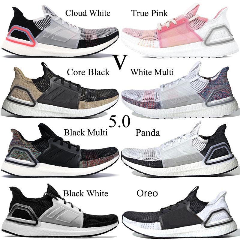 2019 Ultra Boosts 19 Zapatillas de running para hombre Ultraboost 5.0 Láser Rojo Pixel oscuro Núcleo negro Entrenador barato Zapatillas deportivas