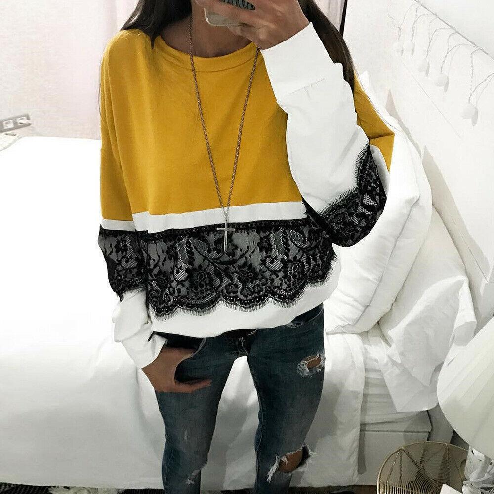 Sonbahar Kadınlar Uzun Kollu Bluz Kazak Kış Bayanlar Casual En Gömlek Tops