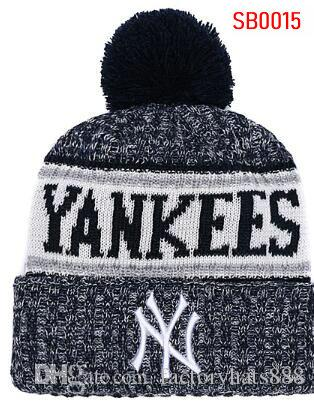 96f4b40983c 2019 Unisex Autumn Winter Hat Sport Knit Hat Custom Knitted Cap Sideline  Cold Weather Knit Hat Soft Warm New York Beanie NY Skull Cap New York Beanie  New ...
