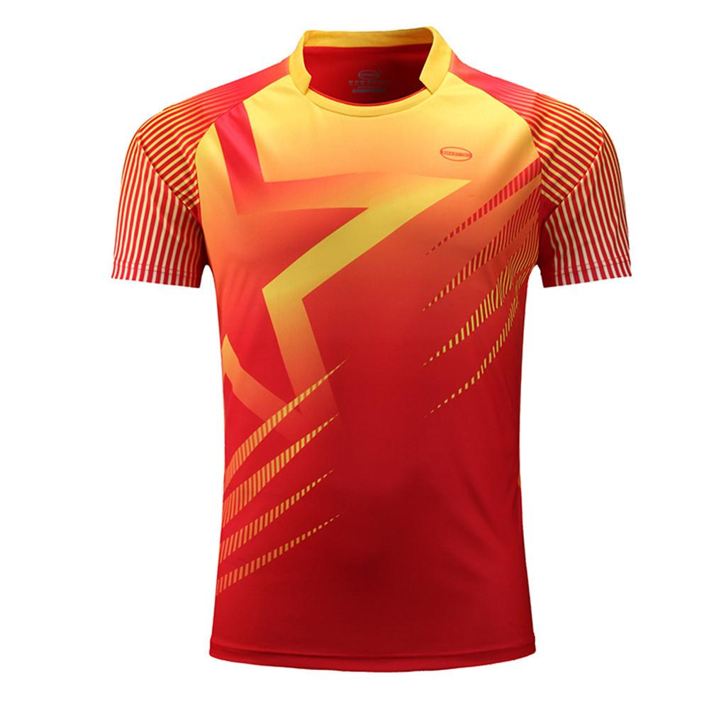 6e2e7e8c9b7 2019 Men Running Shirts Sports Kit Football Jerseys Fitness Soccer Training  Jersey Tennis Short Sleeve T Shirts Quick Dry Breathable C18112201 From  Shen8402 ...