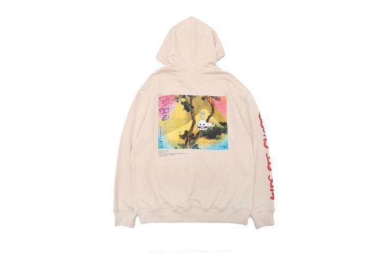2018SS TOP Kanye West KIDS SEE GHOSTS OVERSIZE Pullover Hoodies Hip Hip Casual Men Women Cotton Sweatshirts S-XL
