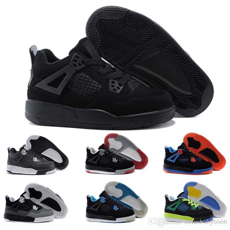 117848086a81a Acquista Nike Air Jordan 4 13 Retro Vendita Online A Buon Mercato Nuovo 13  Scarpe Da Basket Bambini Scarpe Da Ginnastica Ragazzi Bambina Scarpe Da  Bambino ...