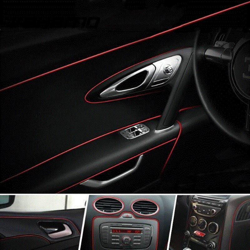 5 Meters Car Side Interior Exterior Parts Pvc Door Decorative Tape Auto  Dash Panel Moulding Trim Decoration Strip Car-styling