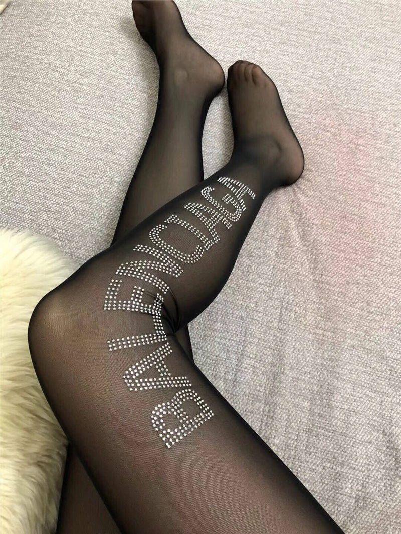 cbea20e166a Fashion Ladies Stockings Brands Designer Long Slim Fishnet Socks Girls  Luxury Casual Black Stockings Women Mesh Tight Stocking With Box Thick Socks  Fuzzy ...