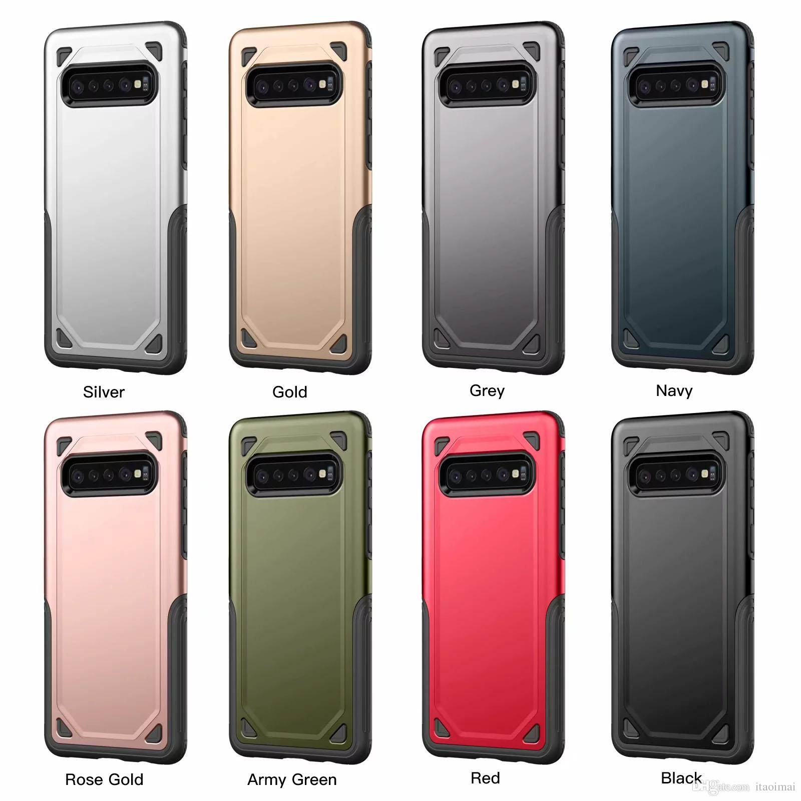 For IPhone X XR XS Max 6 7 8 Plus And Samsung Galaxy Note 9 8 S10 S9 S8 Plus Power Armor Drop Protection Phone Case Custom Cell Phone Cases Wholesale Cell