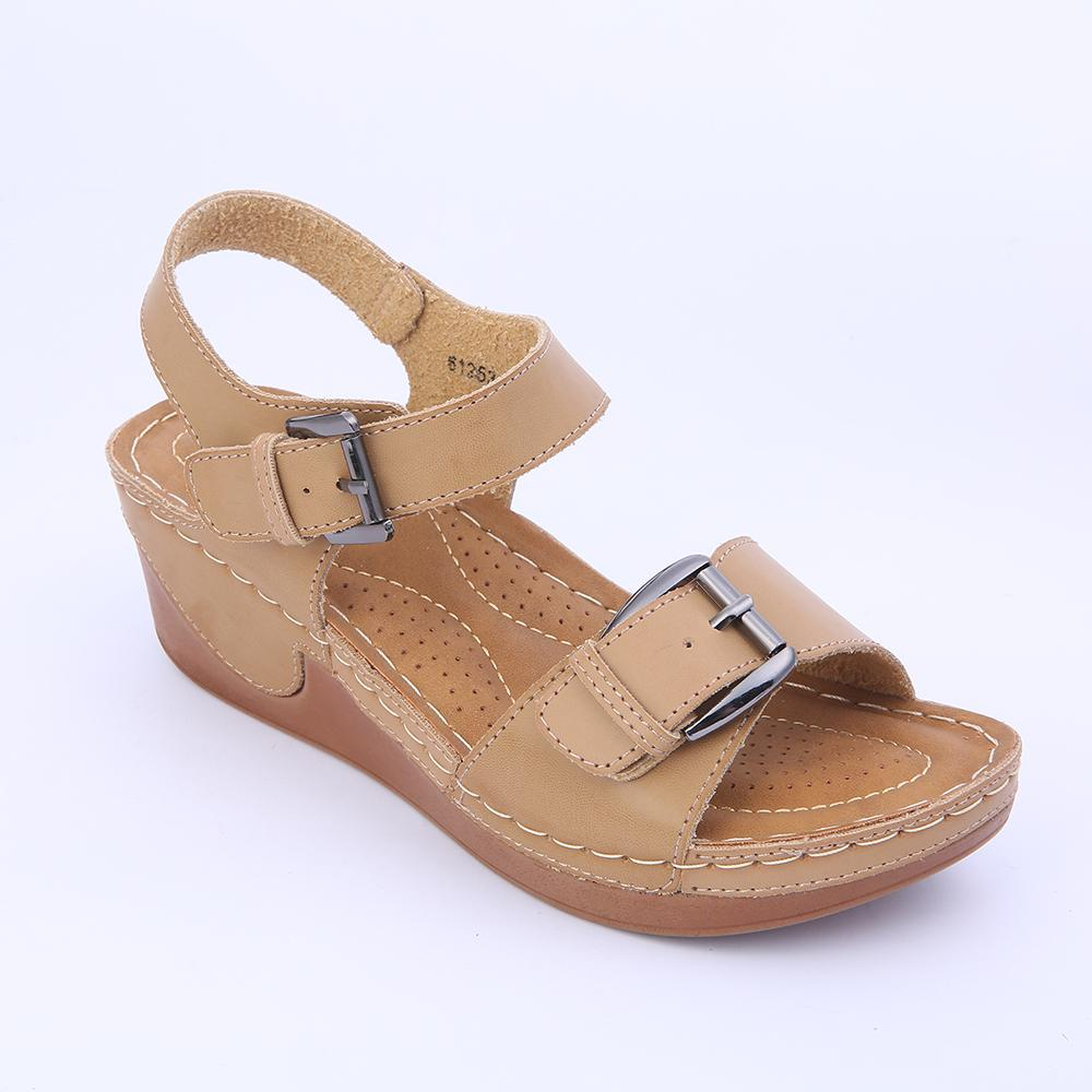 2275fb540 Wedge Casual Sandals Women Shoes Casual Platform Buckle Strap Flat Shoes  Comfortable Rome Style Lightweight Mama Shoes HEYIYI Wedge Sandals Jesus  Sandals ...