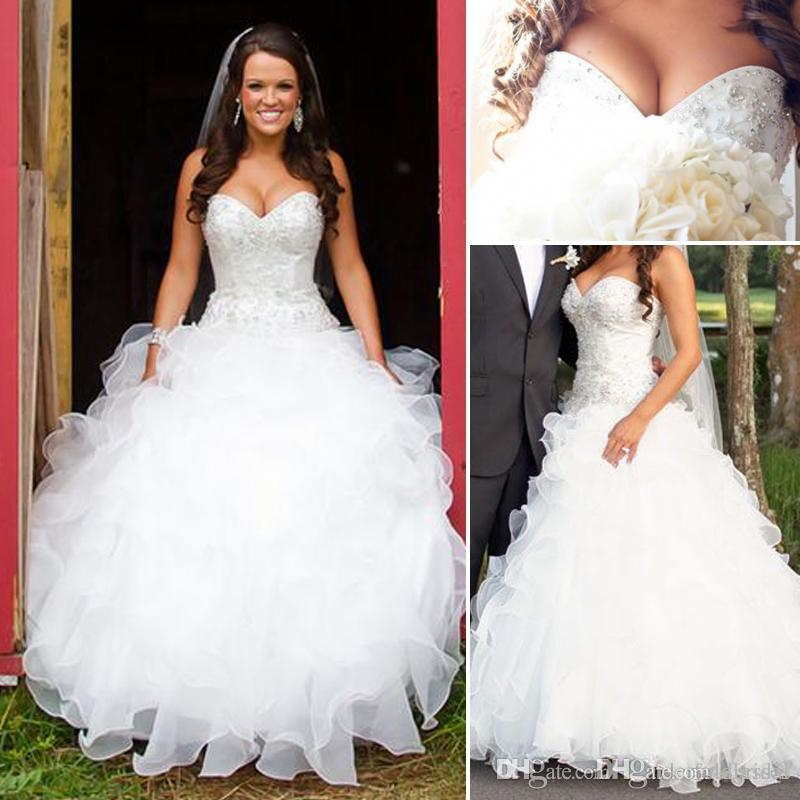 Discount Plus Size Colored Country Wedding Dresses Long: Discount Vintage Plus Size Country Wedding Dresses A Line