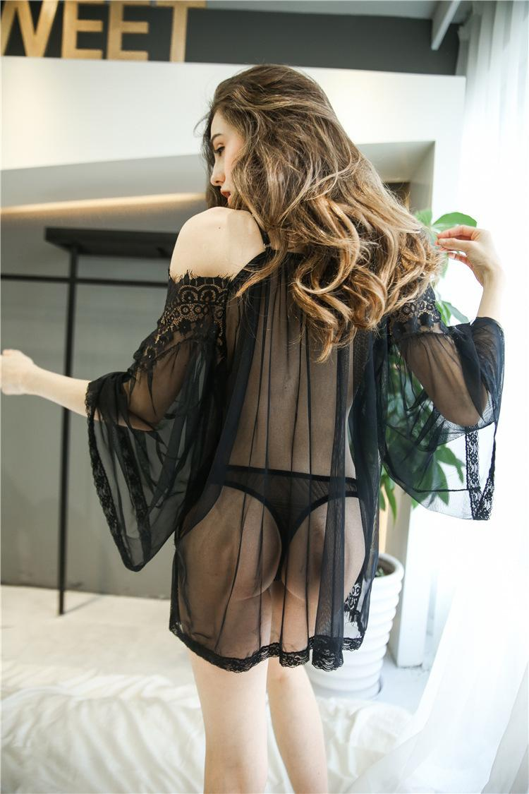 Women Sexy Lingerie Set Lace Babydoll Chemise Porno Sex Underwear Dress Transparent Erotic Lingerie Sexy Costumes Black White