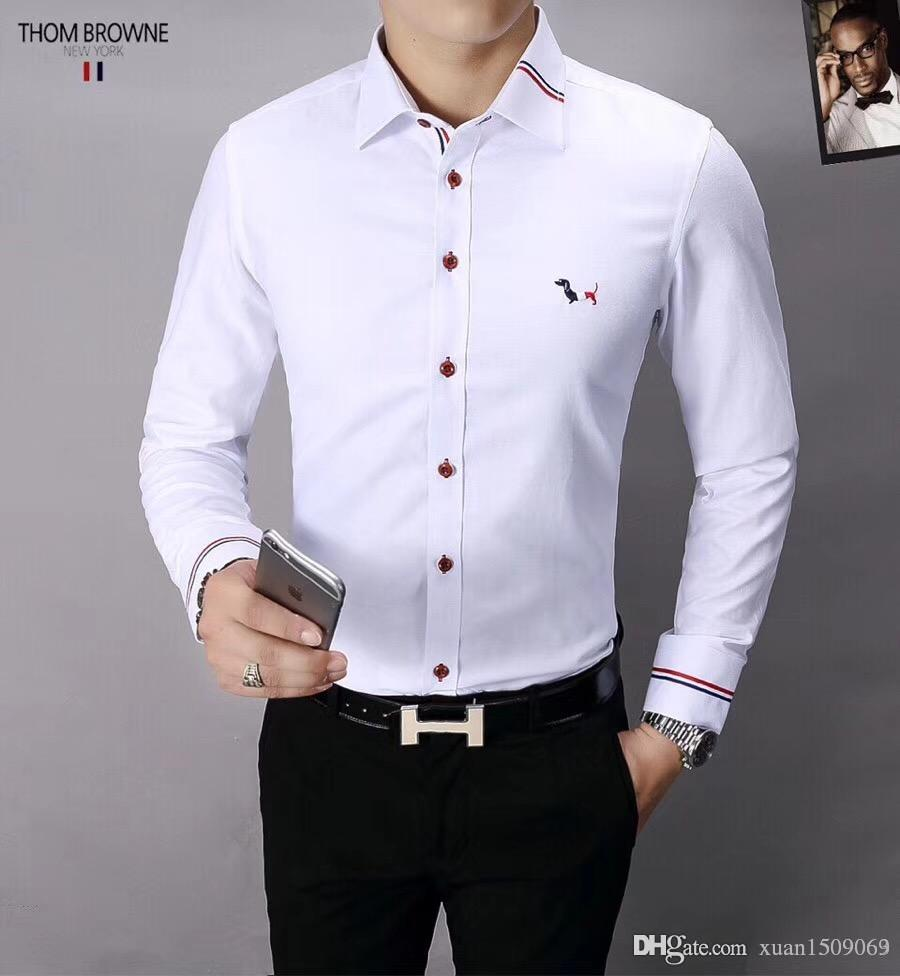 newest 54b46 891e7 Mercerized Baumwoll-Revershemd aus reiner Baumwolle Herren Langarm trendige  Herrenhemden Business casual