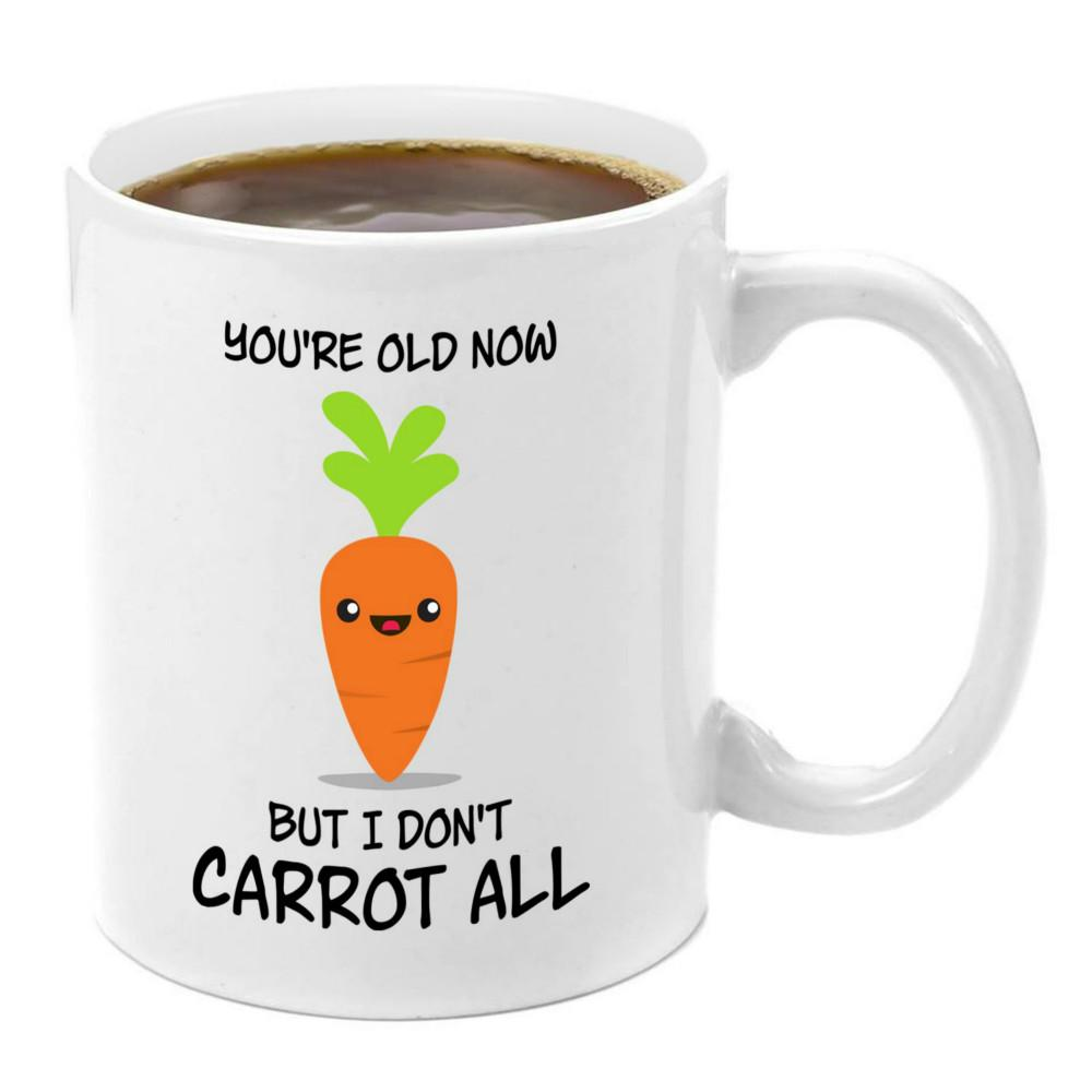 I Dont Carrot At All Ceramic Mug 11oz Best Friend Gifts for Women Men for  Teens Girls Boys Box Bag Birthday Adults Ideas Teens Sister