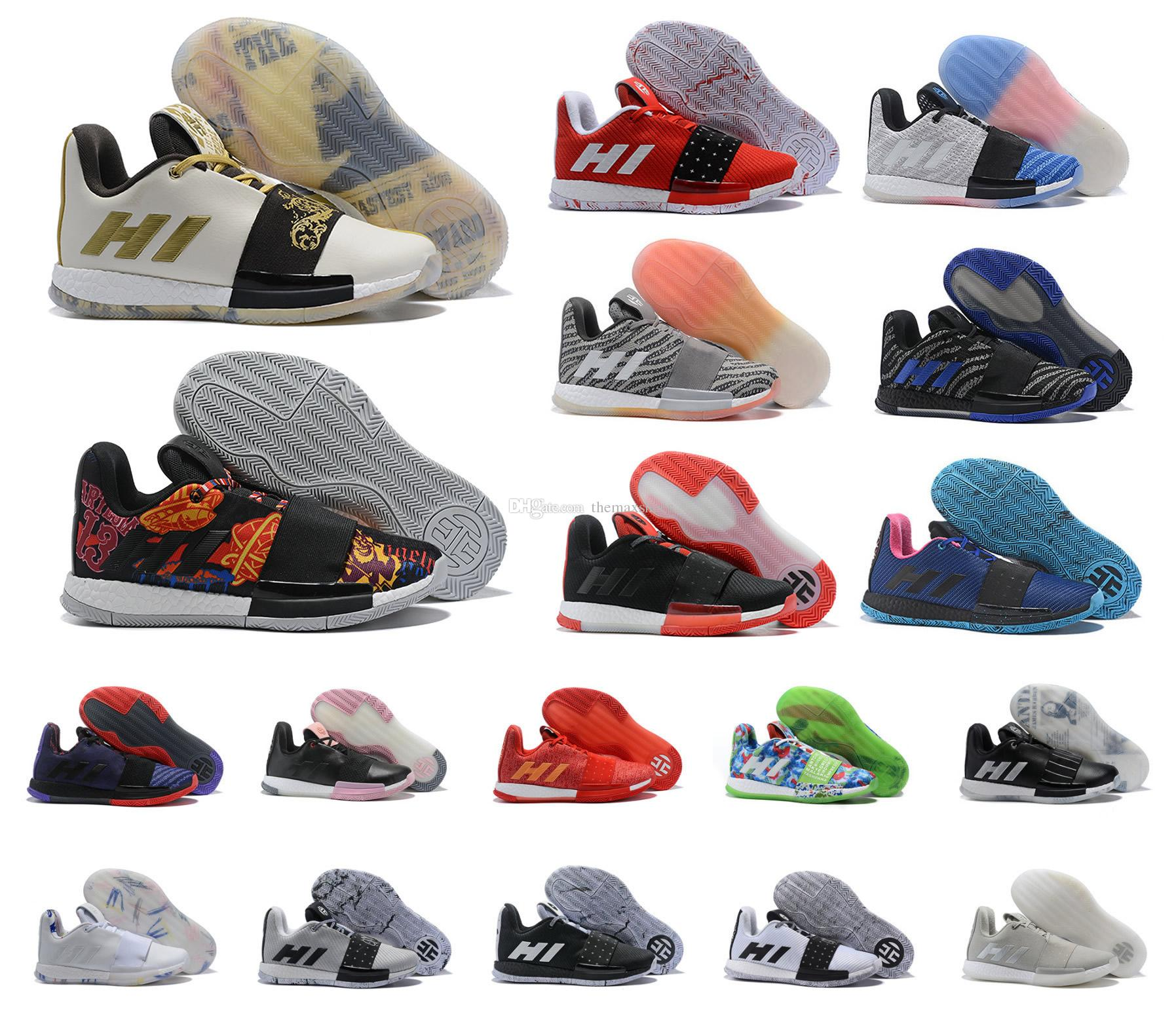 2d18e949f594 Hot Mens James Harden Vol. 3 III MVP Basketball Shoes Multicolor Weaving Sneakers  Men 3s Trainers Sports Shoes Size US 7 11.5 Womens Basketball Shoes ...