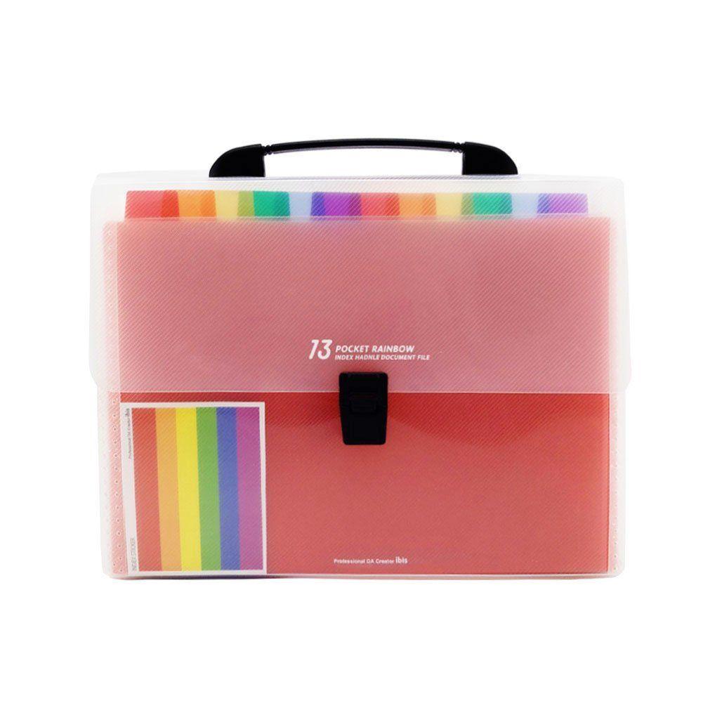 9c6a31da3b53 13 Pockets Plastic Expanding Accordion Folders, Letter Size Portable  Document Holder, A4 File Organizer
