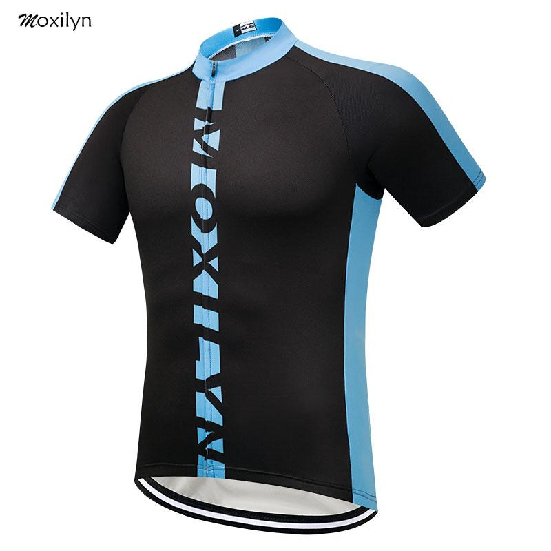 último fabricación hábil completamente elegante Moxilyn Cycling Jersey Top Short Sleeve Racing Cycling Clothing Summer  Quicky Dry Breathble Ropa Ciclismo MTB Bike Clothing man DX004-10