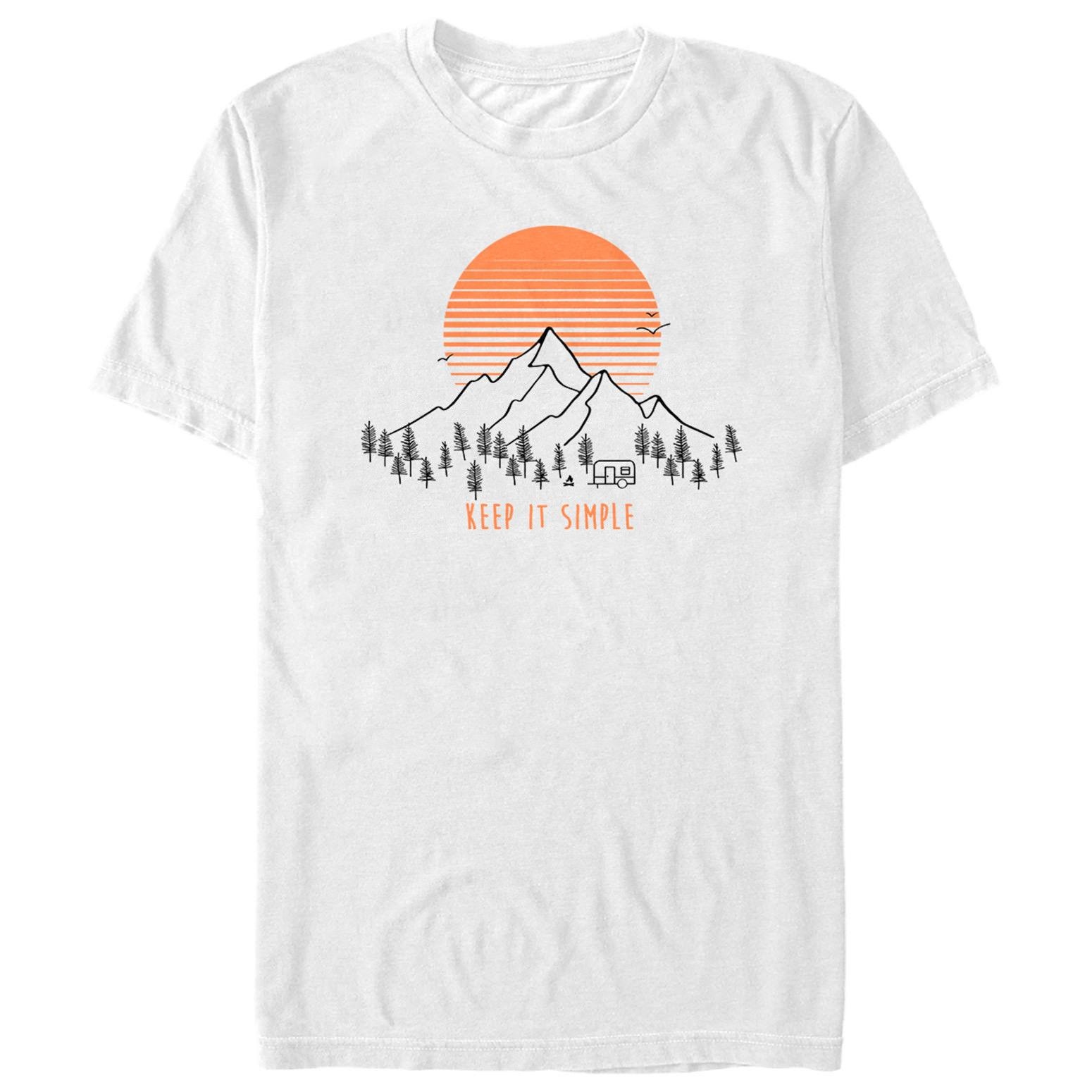 03026fa443 Lost Gods Keep It Simple Mountain Mens Graphic T Shirt New Brand-Clothing  Top Tee Men T Shirt 2018 Summer Casual male tshirt