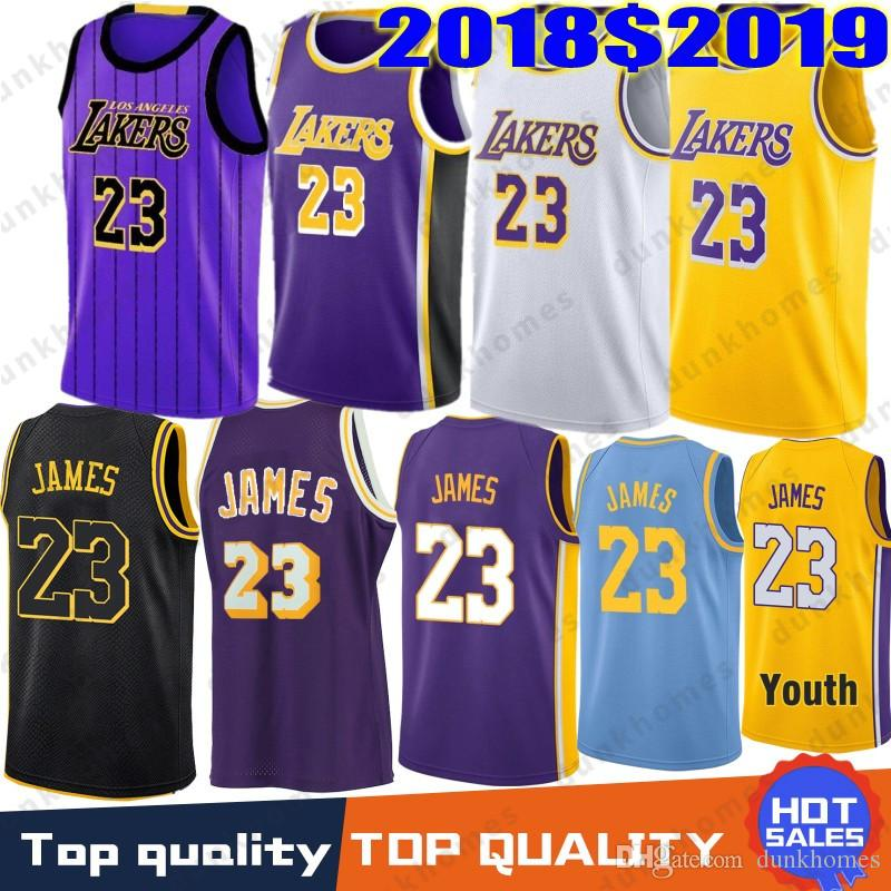 watch fe39c 9f8b8 2019 New Season Men Youth Kids Los Angeles 23 James LeBron Jersey Lakers 0  Kuzma Kyle 2 Ball Lonzo 14 Ingram Brandon 8 24 Bryant Kobe City