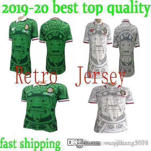 8161b3975 2019 Thailand Quality 1998 Mexico Retro Jerseys Classic Vintage Soccer  Jersey Home Green HERNANDEZ BLANCO 98 Football Shirt Camisa De Futebol From  ...