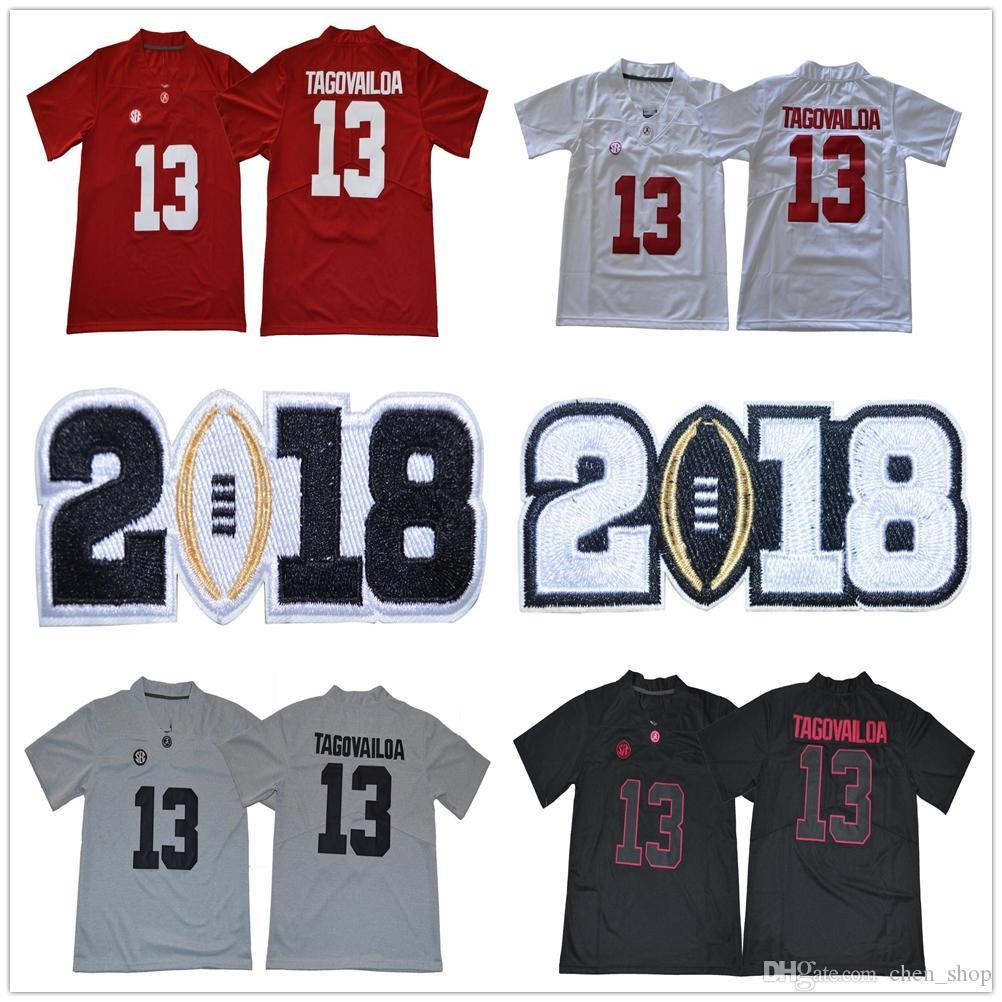 6720612ec 2019 New 2018 Alabama Crimson Tide  13 Tua Tagovailoa College Team Red White  Black Gray Color Men Women Youth Jerseys Shirts Uniforms Stitched From  Sport360 ...