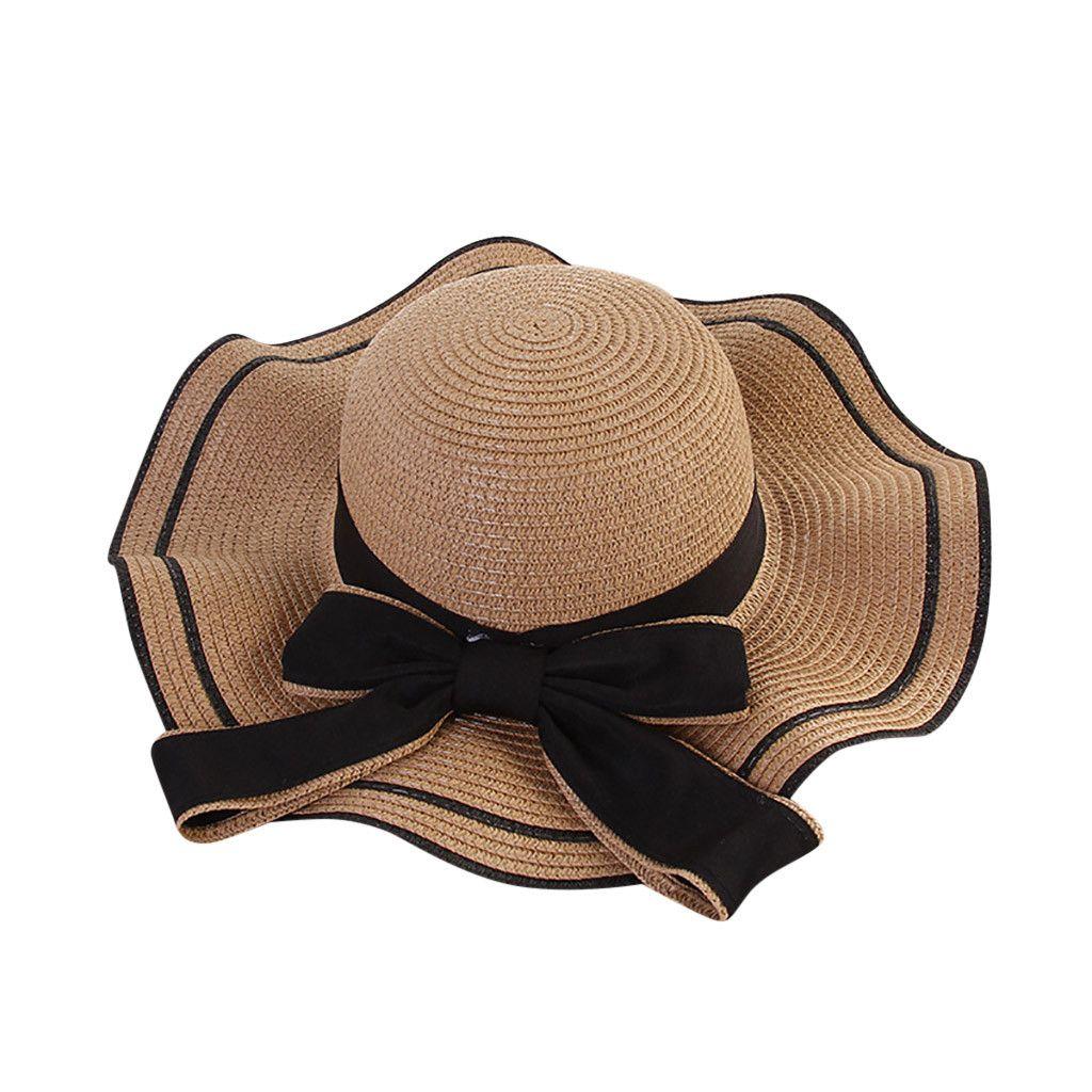 2019 New High Quality Fashion Women Beach Straw Hat Jazz Sunshade ... c34df22c89ad