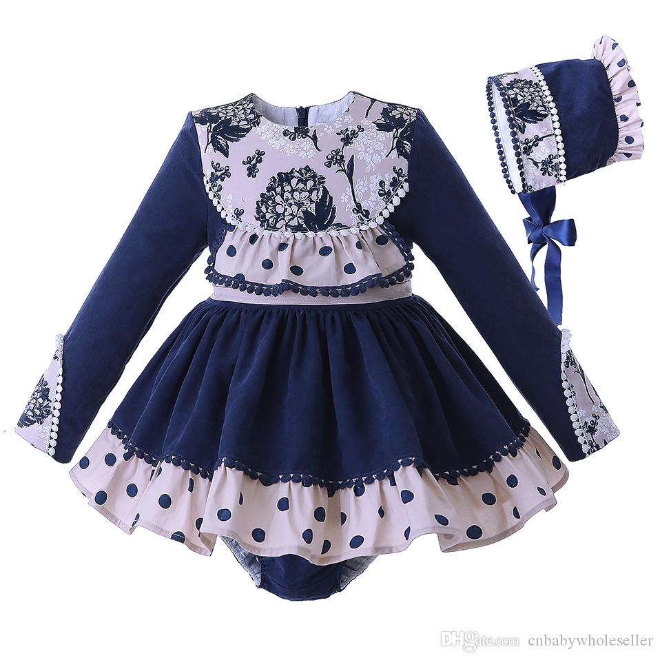 880c7d089 Pettigirl Latest Baby Girls Princess Clothing Set Follow Dots With ...