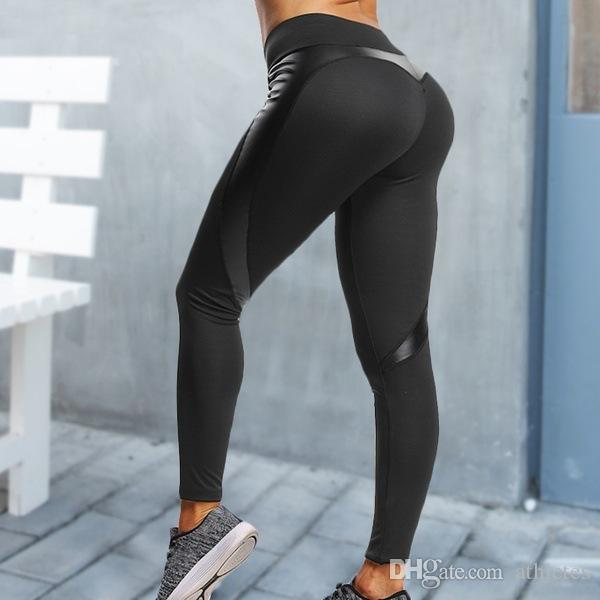 2356c1cd18 2019 Booty SCRUNCH High Waist Slim Shape Leggings Sexy Push Up Pants Peach  Butt Casual Black Heart Leggings From Athletes, $9.04 | DHgate.Com