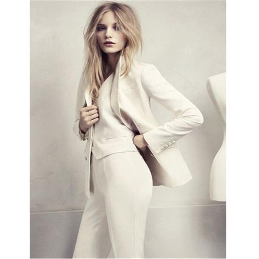 Compre 3 Unidades Conjunto Para Mujer Trajes De Negocios Blazer Mujer  Pantalones Traje Uniforme De Oficina Elegante Ropa De Trabajo Formal  Esmoquin De Boda ... b62767a69f57