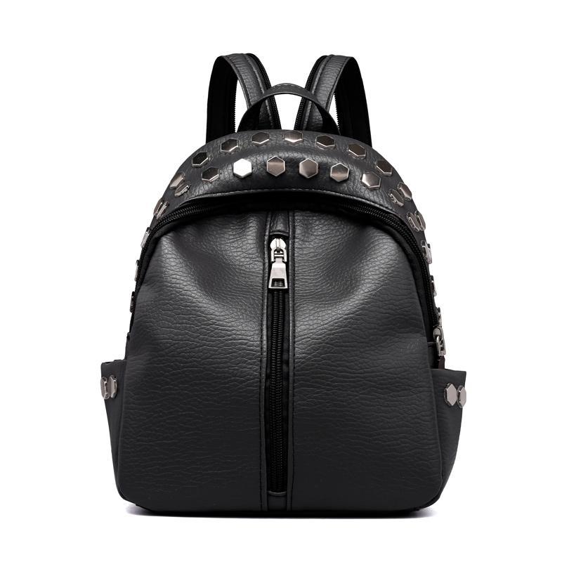 3ed38906f0 2019 New Backpack Women Solid Schoolbag Female Backpack Mini Backpacks  Warterproof Large Capacity Girls Shoulder Bag Top Quality Travel Backpack  Cute ...