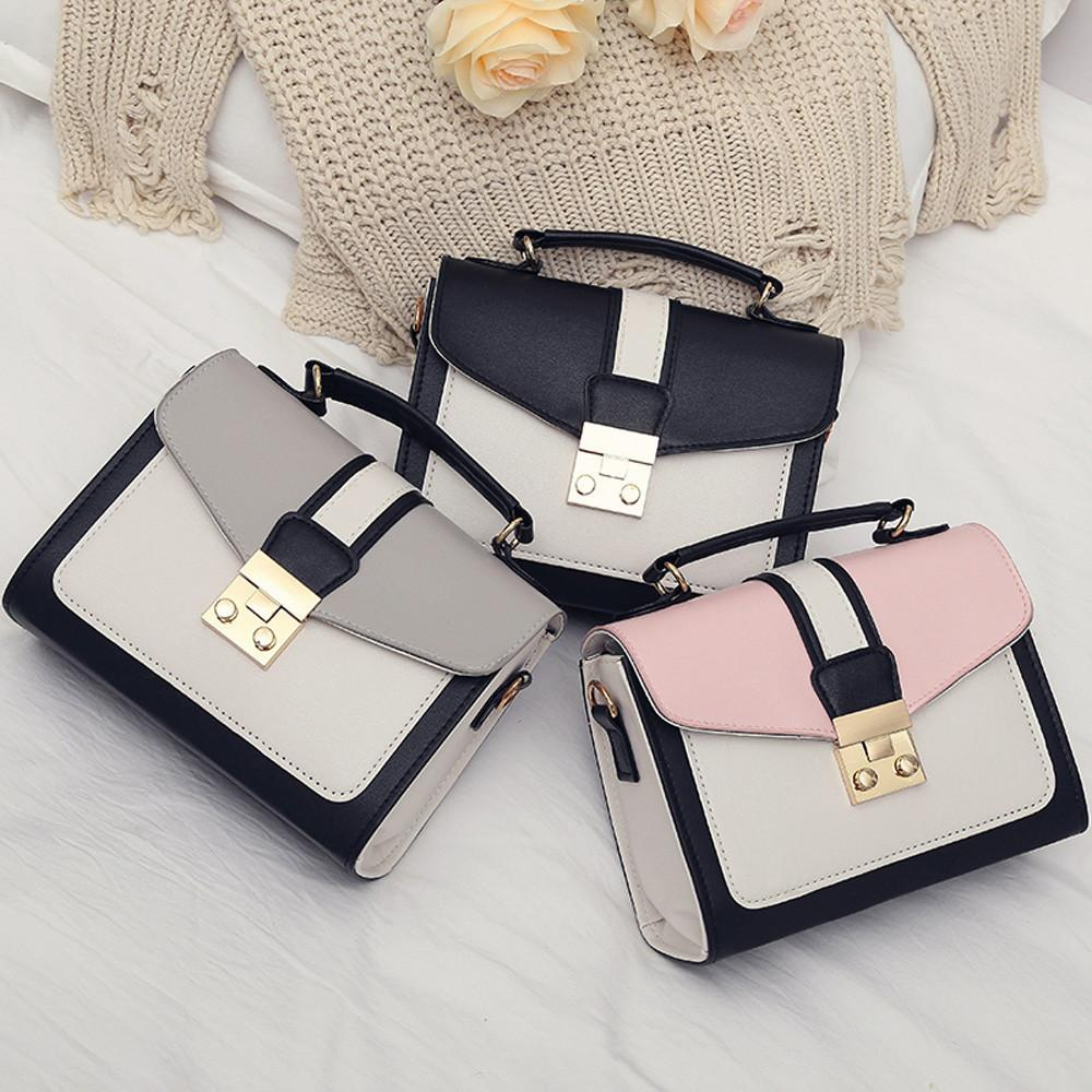 e96ceb7cff 2019 Fashion Women Handbag Mini Bag Woman Sling Black Female Fashion Hit  Color Shoulder Messenger Satchel Tote Crossbody Bag Bolso Mimbre Black  Handbag ...