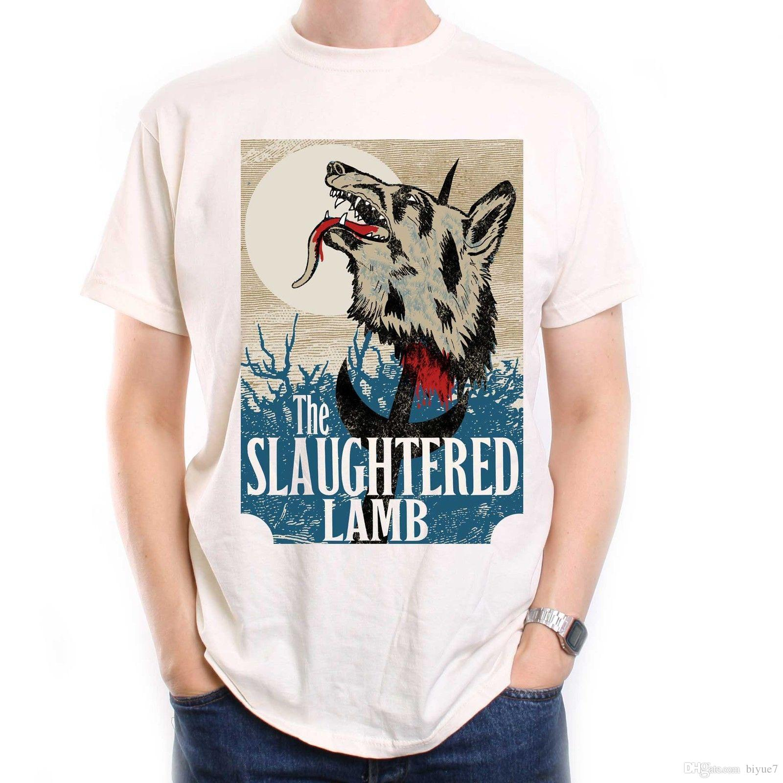 Inspired By American Werewolf T Shirt Slaughtered Lamb Sign Classic