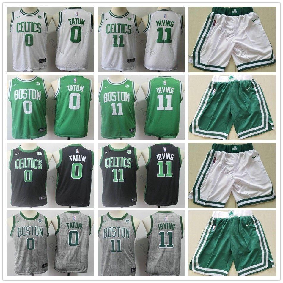 san francisco ad48a bff97 Kids Youth Mens Celtic #11 Kyrie Basketball Irving Jersey Green White Black  Green 0 Jayson Children Tatum Boys Jerseys