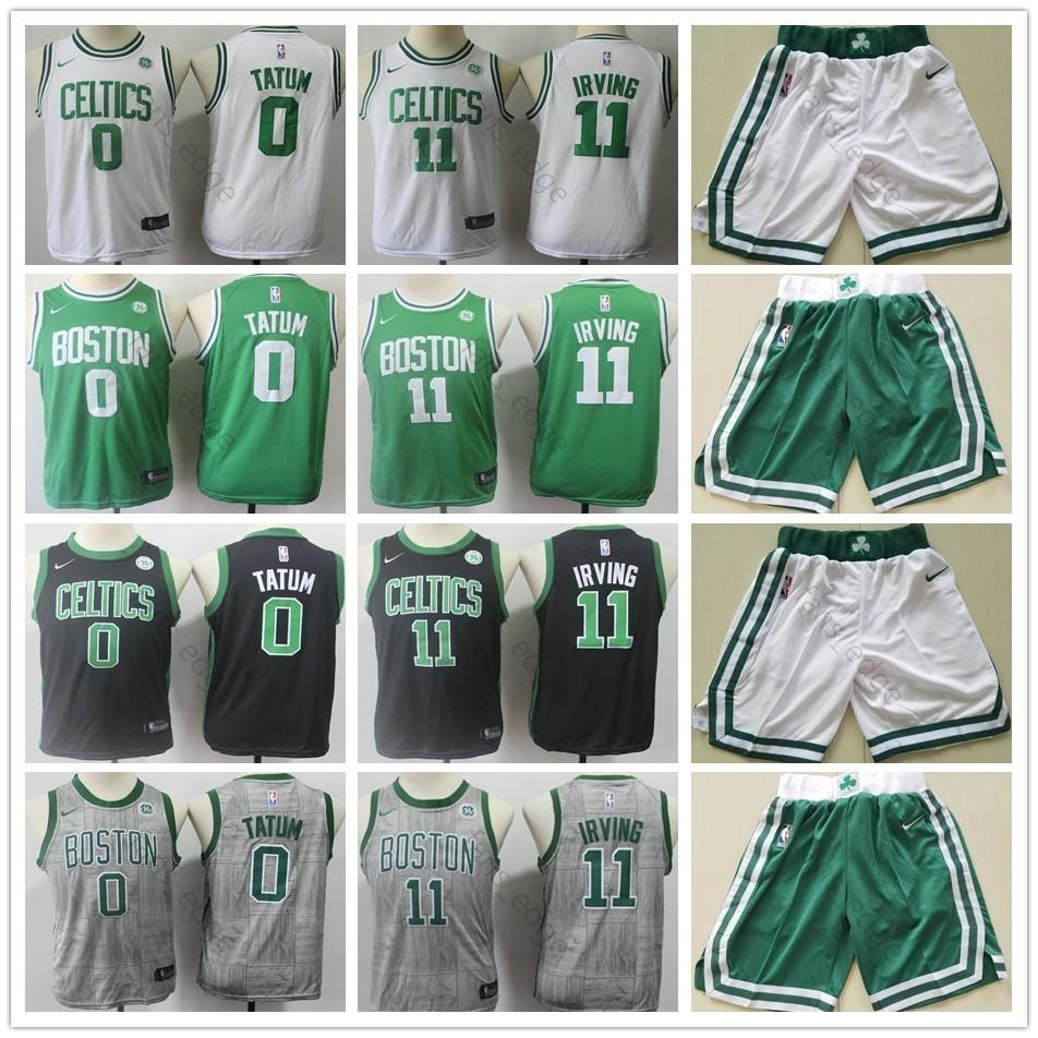 release date: d25f9 2d79b Kids Youth Mens Celtics #11 Kyrie Irving Basketball Jersey Green White  Black Green 0 Jayson Tatum Children Boys Jerseys