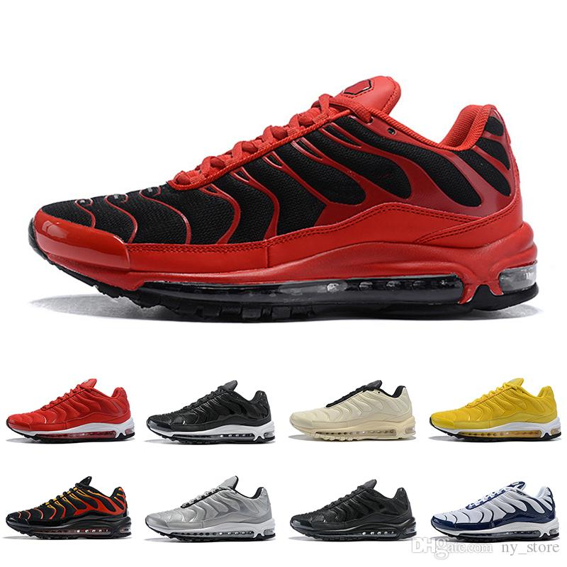 various colors d75c3 7f002 2019 Newest Plus SE Tn Tuned 1 Hybird Mens Running shoes Men Sneakers Tns  Fashion Brand shock orange Womens Trainers sports sneakers 36-45