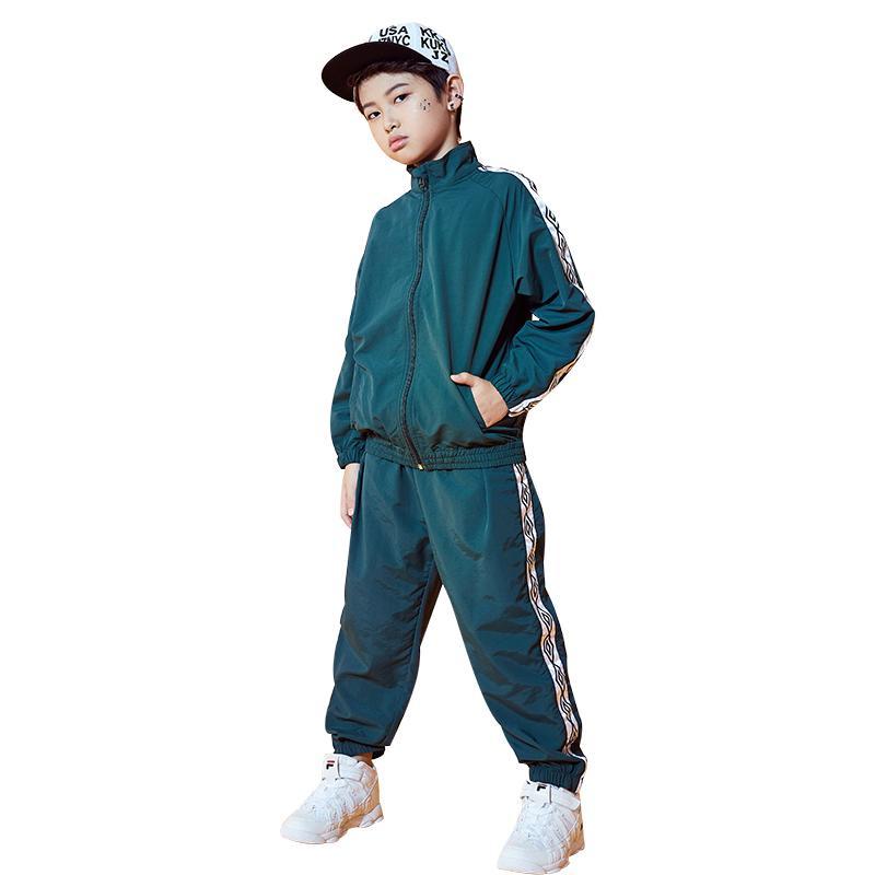 Compre Moda Para Niños Traje De Baile De Jazz Chico Hip Hop Ropa De Baile  Ropa De Calle Rave Ropa Para Niños Moderno Traje De Baile DC1078 A  74.33  Del ... b4dbc524d17