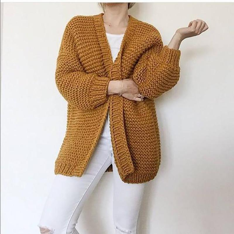 d57829888c15 2019 Hand Knitted Cardigan Sweater 2019 Spring Women S Handmade Long Style Sweater  Oversized 5XL Code Chunky Long Cardigan Women From Liangcloth