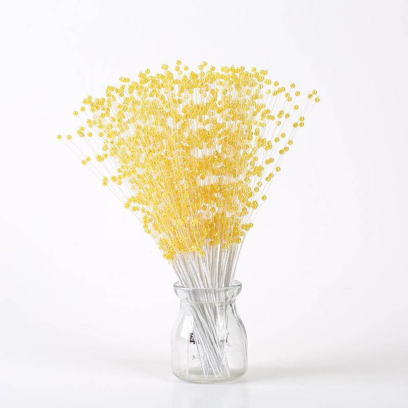 20 stücke Hochzeitsdekoration Handgemachte Perle Perlen String Bouquet Braut Party Table center Liefert Schmuck Pralinenschachtel Holding Blume