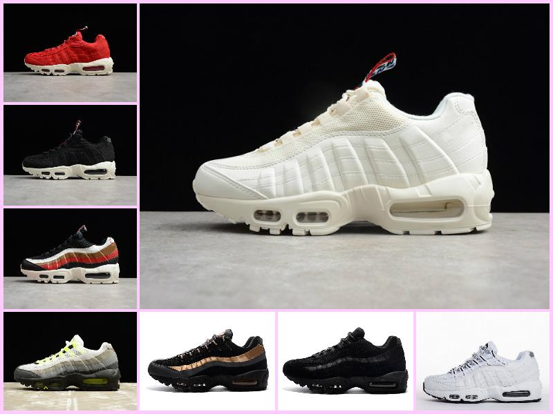low priced 51f50 59861 Sales 2019 New Arrival 95 AIR TT PRM PACK Black White Running Shoes Men  Women Sport Shoes Sneakers Airs Mens 95s OG Chaussures White Shoes Wedges  Shoes From ...