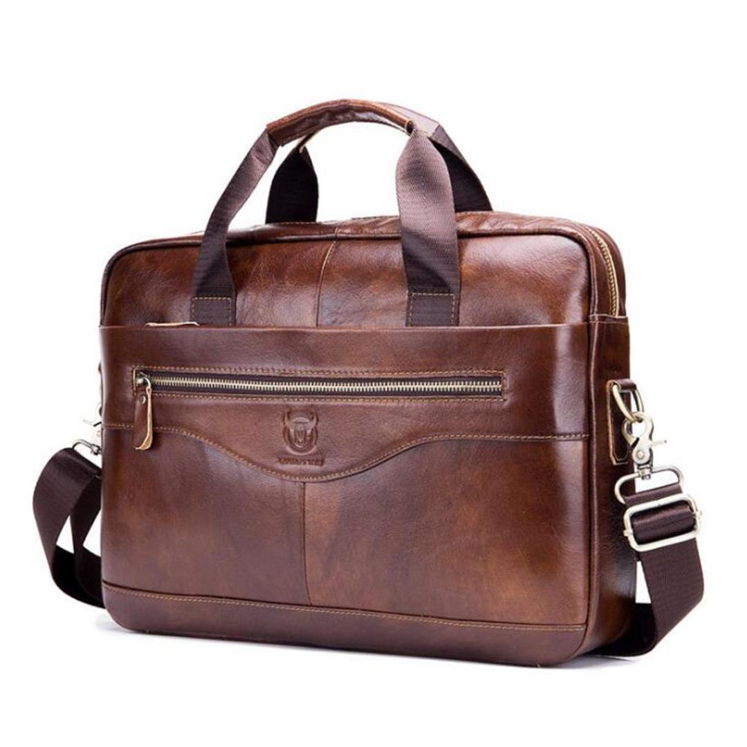 Aktentaschen Männer Echte Leder Handtaschen Rindsleder Aktentasche Männlichen Hohe Qualität Luxus Business Messenger Taschen Laptop Tasche Neue Ankunft Buy One Give One