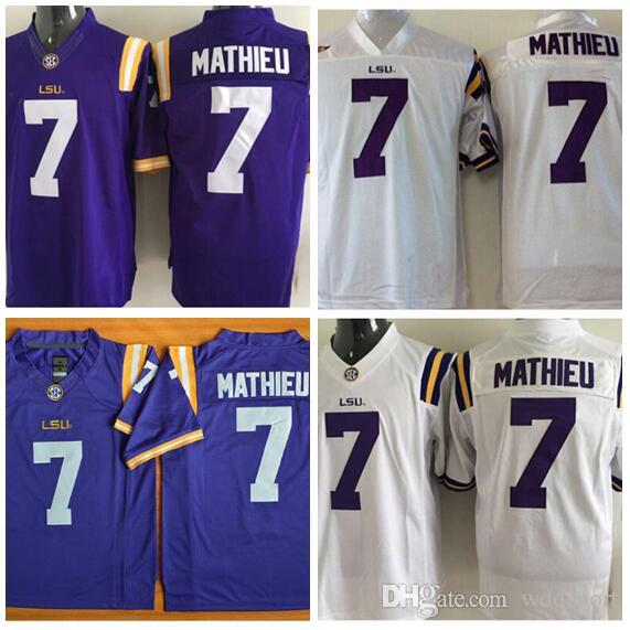 new style 123ed 08703 Mens LSU Tigers TYRANN MATHIEU Stitched Name&Number American College  Football Jersey Size S-3XL
